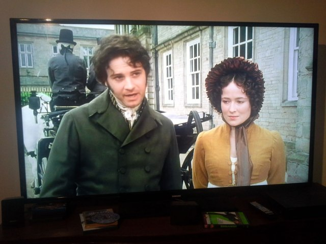 all the time watching my favorite movie of all time. Don't you just love Jennifer Ehle and Colin Firth. Talk about chemistry.