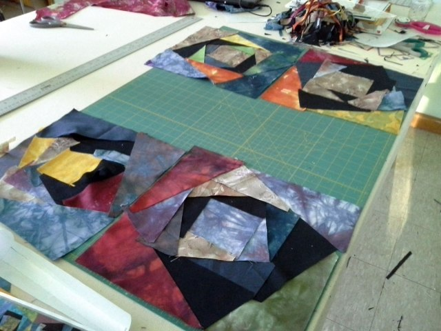Here a four squares ready for me to sew.
