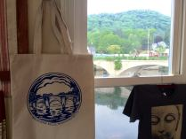 new tote features Peter's design of the Bridge of Flowers